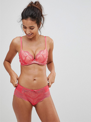 Indian women wearing pink lace panties Picture Snazzyway India