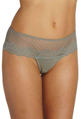 Ladies Feminine Net Lace Tanga Thong(2 Pcs)