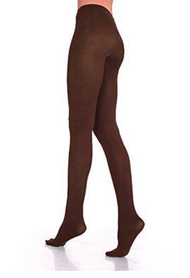 Legacy Legwear Microfiber Control Top Brown Tights