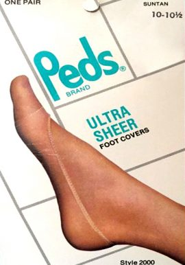 Peds One Pair Cotton Suntan Foot Cover