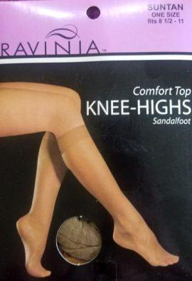 Ravinia Suntan Comfort Top Knee Highs Socks
