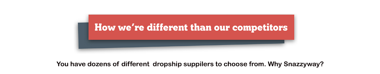 why choose Snazzyway dropshipping