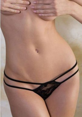 CAP CALIN Double Strap See Through Lace G-String