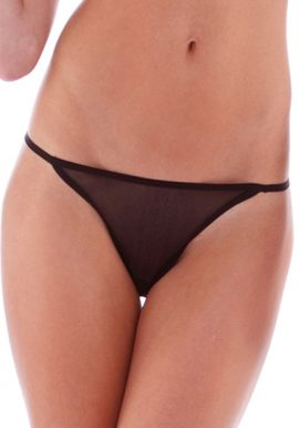 Female Tease To Please Black Lace G-String