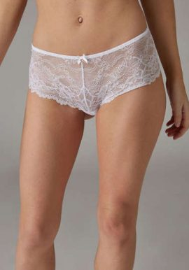 Pretty Looks Restless Romance Lace Mesh White Brief