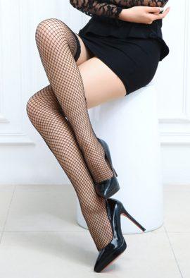 Trendy Fashion Lacy High Socks