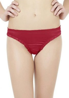 Vanity Fair All Visible Maroon Thong Panty
