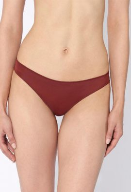 Well Burgundy Tanga Sexy Lace Back Thong