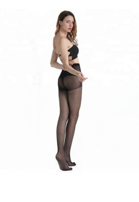 Control top tights flatten your tummy women Sheer Toe