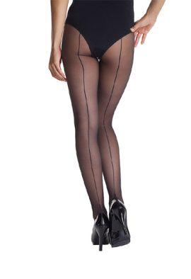 Fashion tights bow with seam sheer pantihose