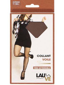Lauve bas voile sheer black stockings