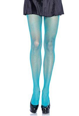 Sky blue full lace knee high women pantyhose