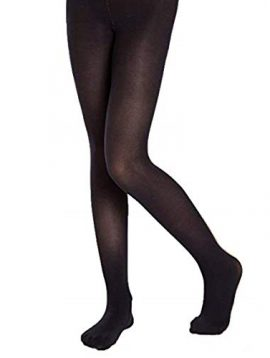 Women black semi pantyhose tights