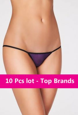 Wholesale Lot Of - 10 Pc. G-String Panties