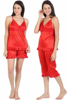 Women's Red Super Seductive Nighty Set