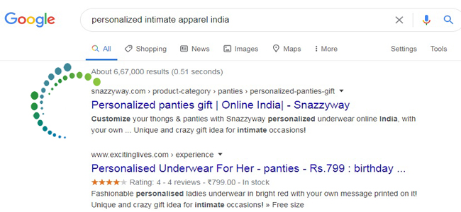 personalized intimate apparel indiaSnazzyway