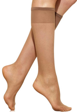 3 Pairs Knee high Smooth Stocking By Marks & Spencer