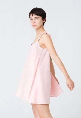 Women's Pink Pure Cotton Sleepwear Cotton nightgowns nighties