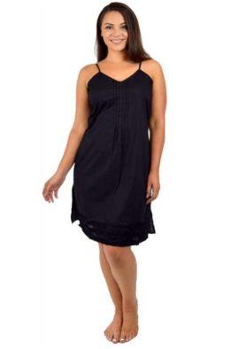 Black pure cotton nightwear