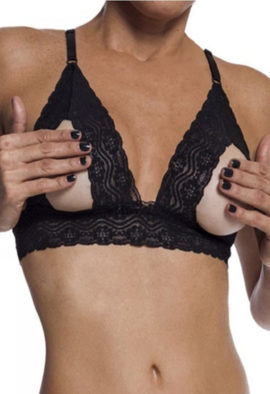 Very sexy open cup lace bra Snazzyway