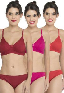 Cotton bra panty set