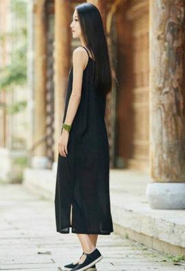 Pure cotton long slip dress