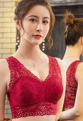 2 pack elegant lace padded bras