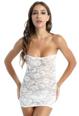 Elegant sexy white lace bodycon dress6