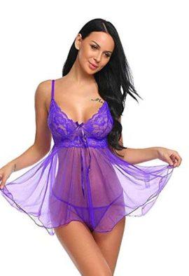 Flirty Blue see through babydoll nightwear
