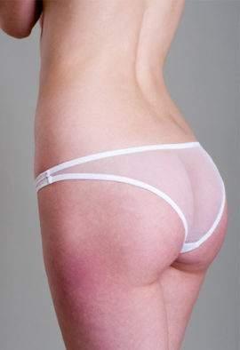 Fully transparent White bridal panty underwear