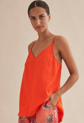 french fashion 100% pure cotton cami top