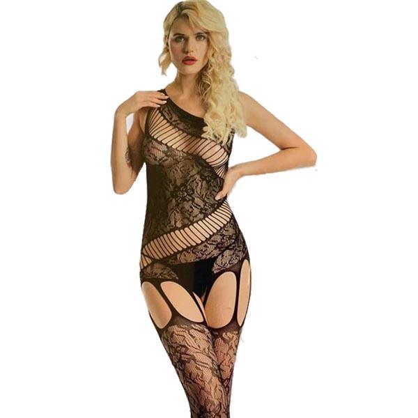 seductive Open Crotch Mesh Full Body stockings1